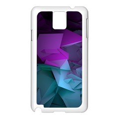 Abstract Shapes Purple Green  Samsung Galaxy Note 3 N9005 Case (white) by amphoto