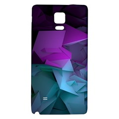 Abstract Shapes Purple Green  Galaxy Note 4 Back Case by amphoto