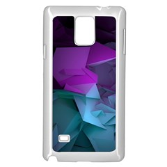 Abstract Shapes Purple Green  Samsung Galaxy Note 4 Case (white) by amphoto