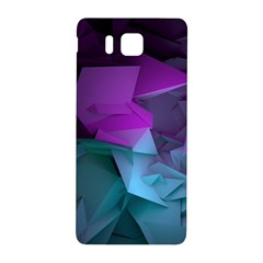 Abstract Shapes Purple Green  Samsung Galaxy Alpha Hardshell Back Case by amphoto