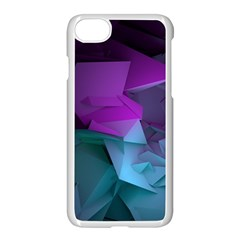 Abstract Shapes Purple Green  Apple Iphone 7 Seamless Case (white) by amphoto