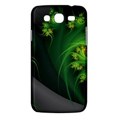 Abstraction Embrace Fractal Flowers Gray Green Plant  Samsung Galaxy Mega 5 8 I9152 Hardshell Case  by amphoto