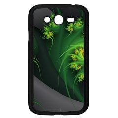 Abstraction Embrace Fractal Flowers Gray Green Plant  Samsung Galaxy Grand Duos I9082 Case (black) by amphoto