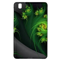 Abstraction Embrace Fractal Flowers Gray Green Plant  Samsung Galaxy Tab Pro 8 4 Hardshell Case by amphoto