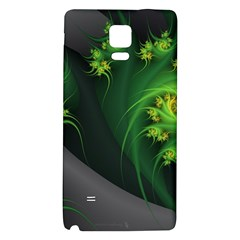 Abstraction Embrace Fractal Flowers Gray Green Plant  Galaxy Note 4 Back Case by amphoto