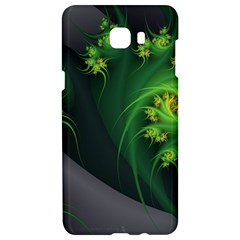 Abstraction Embrace Fractal Flowers Gray Green Plant  Samsung C9 Pro Hardshell Case  by amphoto