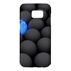 Balls Dark Neon Light Surface  Samsung Galaxy S7 Edge Hardshell Case by amphoto