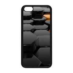 Orange Black Apple Iphone 5c Seamless Case (black) by amphoto