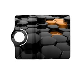Orange Black Kindle Fire Hd (2013) Flip 360 Case by amphoto