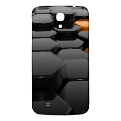 Orange Black Samsung Galaxy Mega I9200 Hardshell Back Case by amphoto