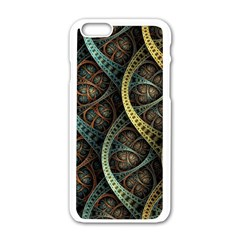 Line Semi Circle Background Patterns 82323 3840x2400 Apple Iphone 6/6s White Enamel Case by amphoto