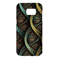 Line Semi Circle Background Patterns 82323 3840x2400 Samsung Galaxy S7 Edge Hardshell Case by amphoto