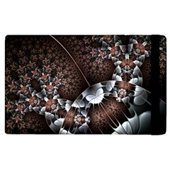 Lines Background Light Dark 81522 3840x2400 Apple Ipad 2 Flip Case by amphoto