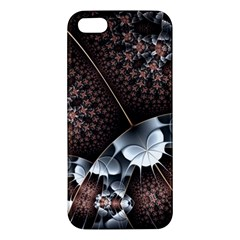 Lines Background Light Dark 81522 3840x2400 Apple Iphone 5 Premium Hardshell Case by amphoto