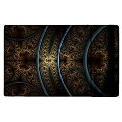 Lines Dark Patterns Background Spots 82314 3840x2400 Apple Ipad 2 Flip Case by amphoto