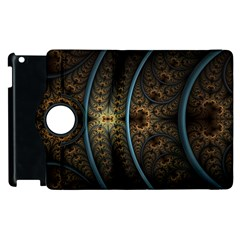 Lines Dark Patterns Background Spots 82314 3840x2400 Apple Ipad 2 Flip 360 Case by amphoto