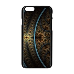 Lines Dark Patterns Background Spots 82314 3840x2400 Apple Iphone 6/6s Black Enamel Case by amphoto