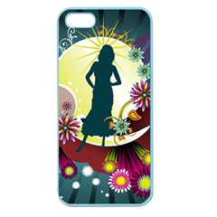 Abstraction Vector Heavens Woman Flowers  Apple Seamless Iphone 5 Case (color) by amphoto