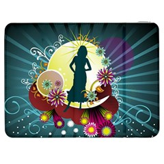Abstraction Vector Heavens Woman Flowers  Samsung Galaxy Tab 7  P1000 Flip Case by amphoto