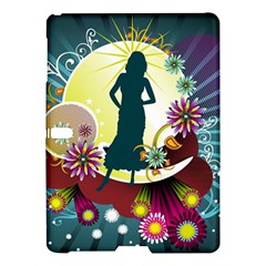 Abstraction Vector Heavens Woman Flowers  Samsung Galaxy Tab S (10 5 ) Hardshell Case  by amphoto