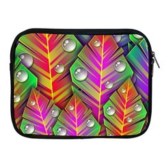 Leaves Dew Art Bright Lines Patterns  Apple Ipad 2/3/4 Zipper Cases by amphoto