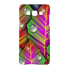 Leaves Dew Art Bright Lines Patterns  Samsung Galaxy A5 Hardshell Case  by amphoto