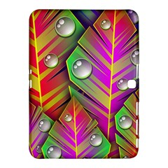 Leaves Dew Art Bright Lines Patterns  Samsung Galaxy Tab 4 (10 1 ) Hardshell Case  by amphoto