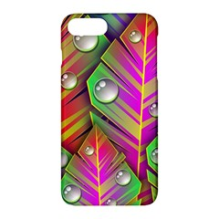 Leaves Dew Art Bright Lines Patterns  Apple Iphone 7 Plus Hardshell Case by amphoto