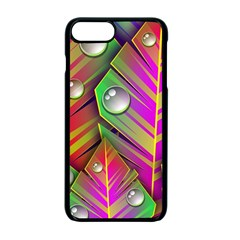 Leaves Dew Art Bright Lines Patterns  Apple Iphone 7 Plus Seamless Case (black) by amphoto