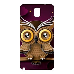 Owl Bird Art Branch 97204 3840x2400 Samsung Galaxy Note 3 N9005 Hardshell Back Case by amphoto
