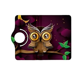 Owl Bird Art Branch 97204 3840x2400 Kindle Fire Hd (2013) Flip 360 Case by amphoto