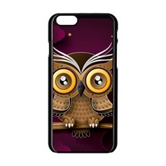 Owl Bird Art Branch 97204 3840x2400 Apple Iphone 6/6s Black Enamel Case by amphoto