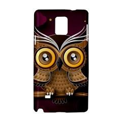 Owl Bird Art Branch 97204 3840x2400 Samsung Galaxy Note 4 Hardshell Case by amphoto