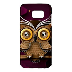 Owl Bird Art Branch 97204 3840x2400 Samsung Galaxy S7 Edge Hardshell Case by amphoto