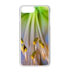 Flower Petals Stamens Apple Iphone 7 Plus White Seamless Case by amphoto