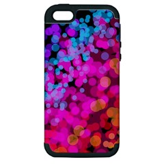 Colorful Community Glare Bright  Apple Iphone 5 Hardshell Case (pc+silicone) by amphoto