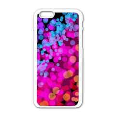 Colorful Community Glare Bright  Apple Iphone 6/6s White Enamel Case by amphoto