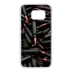 Bullets Ammunition Guns  Samsung Galaxy S7 White Seamless Case by amphoto