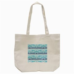 Watercolor Blue Abstract Summer Pattern Tote Bag (cream) by TastefulDesigns