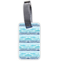 Watercolor Blue Abstract Summer Pattern Luggage Tags (one Side)  by TastefulDesigns
