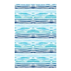 Watercolor Blue Abstract Summer Pattern Shower Curtain 48  X 72  (small)  by TastefulDesigns