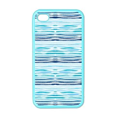 Watercolor Blue Abstract Summer Pattern Apple Iphone 4 Case (color) by TastefulDesigns