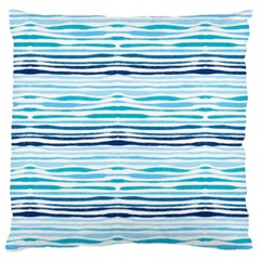Watercolor Blue Abstract Summer Pattern Large Flano Cushion Case (two Sides)