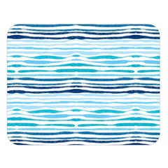 Watercolor Blue Abstract Summer Pattern Double Sided Flano Blanket (large)  by TastefulDesigns