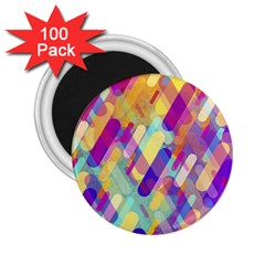 Colorful Abstract Background 2 25  Magnets (100 Pack)  by TastefulDesigns