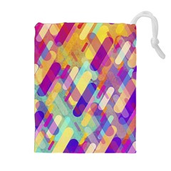 Colorful Abstract Background Drawstring Pouches (extra Large) by TastefulDesigns