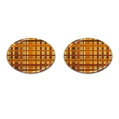 Plaid Pattern Cufflinks (oval) by linceazul
