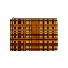 Plaid Pattern Cosmetic Bag (medium)  by linceazul