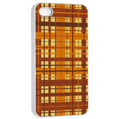 Plaid Pattern Apple Iphone 4/4s Seamless Case (white) by linceazul