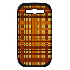 Plaid Pattern Samsung Galaxy S Iii Hardshell Case (pc+silicone) by linceazul